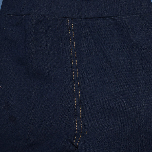Kid's Jersey Stylish Tights Navy-(D06)