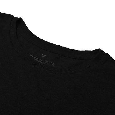 American Eagle Crew Neck Pocket Style Tee Shirt For Men-Dark Charcoal-NA10773