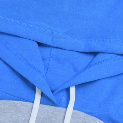 Next Fleece Pullover Hoodie For Men-Sky with Panels-BE10836