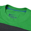 NK Crew Neck Tee Shirt For Men-Green with Charcoal Melange Panel-SP1957