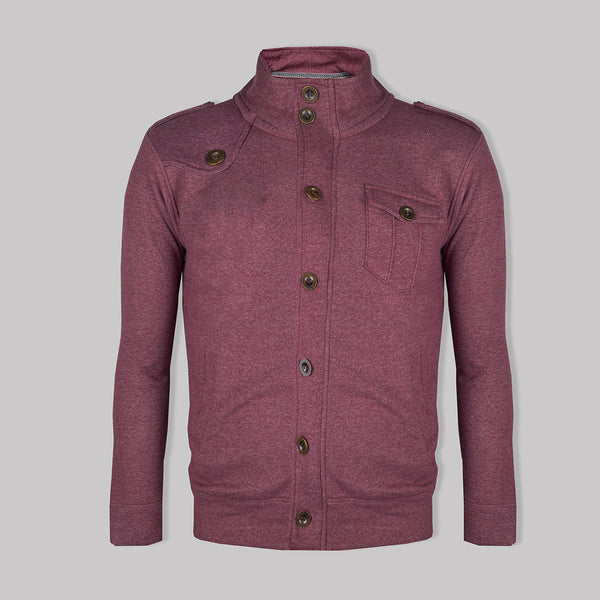 "Men's ""American Eagle"" Full Fashion Zipper Fleece Stylish Jacket- Light Orchid Pocket Style-AEZJ71"