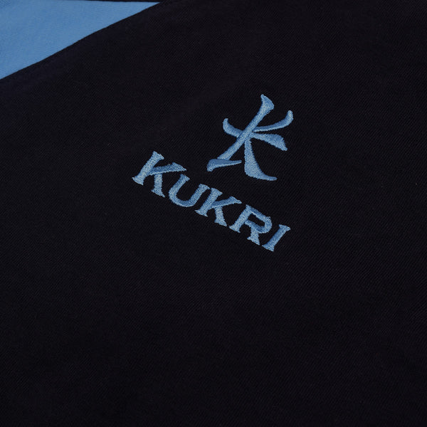 KUKRI Stylish Polo Shirt For Men Cut Label-Black & Sky-BE3075