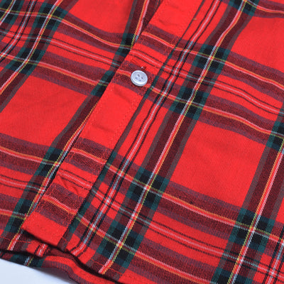 Louis Philippe Premium Slim Fit Casual Shirt For Men-Red Chek-RCS167