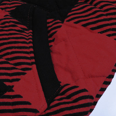 Tommy Hilfiger Quilted Zipper Hoodie For Kids-Black & Red Chek-NA10170