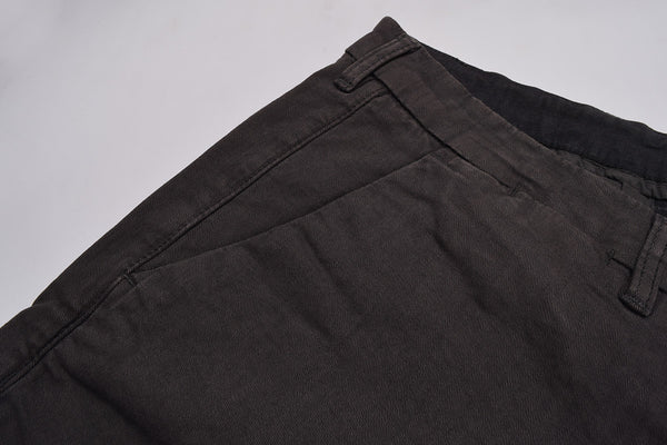 "Men's ""Sorbino""  Slim Fit Cotton Strech Denim-Dark Gray-ND25"