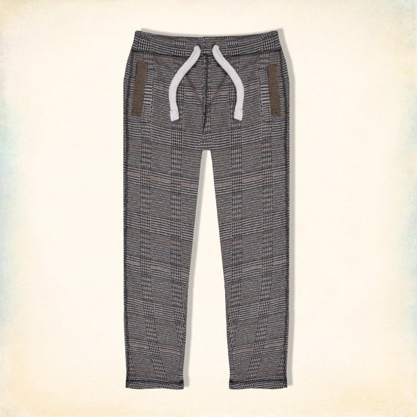 "Men's ""Tom Tailor"" Stylish Multi Check Regular Fit Stretch Trouser-TTT42"