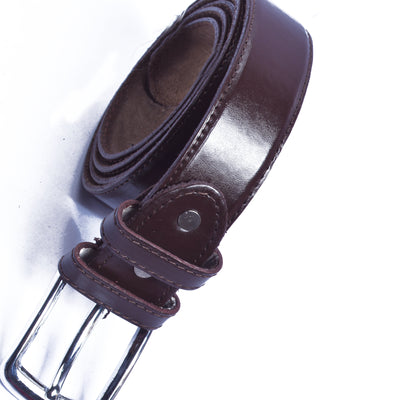 Harmes Original Leather Belt For Men-Dark Brown-SP1218