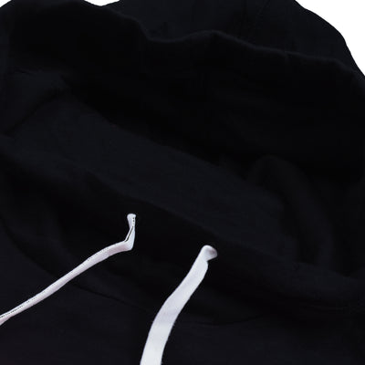 New Stylish Fleece Shawl Collar Pullover Hoodie For Men-Black With Pink Panel-SP1622