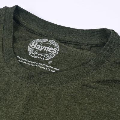 Haynes Half Sleeve Crew Neck T Shirt For Men-Olive Green-BE3082