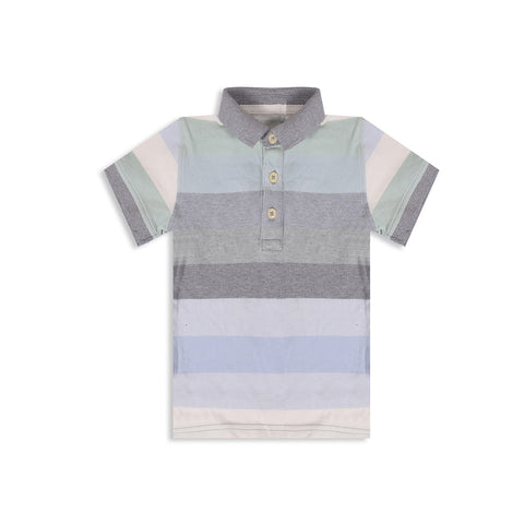 Fat Face Polo Shirt for Kids Cut Label -Stripe-BE2301