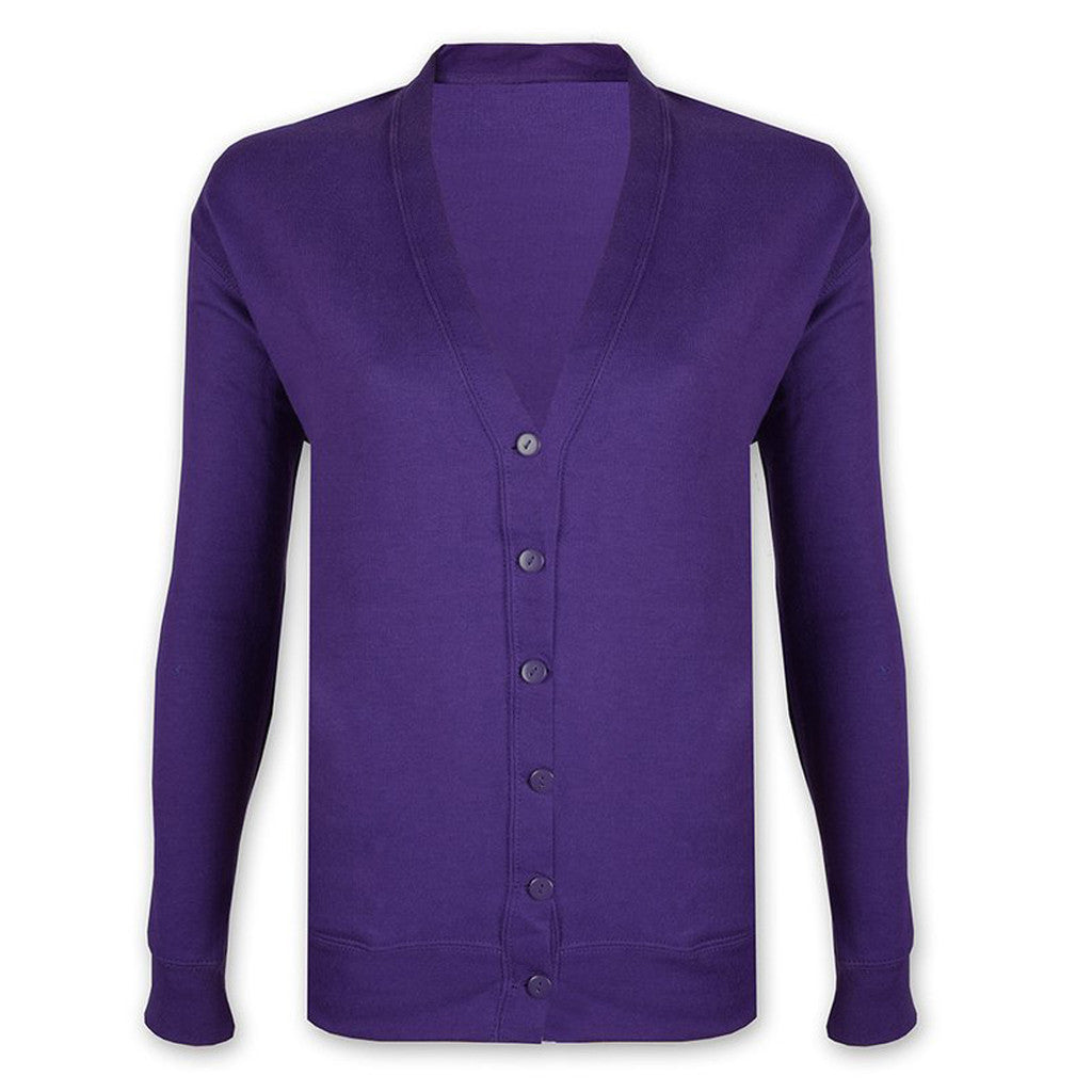 "Ladie's ""B&C' Stylish Y Neck Cardigan-Purple-CGC07"