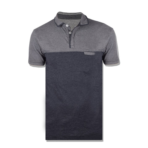 Dickies Polo Shirt For Men-Gray & Black Melange-BE859