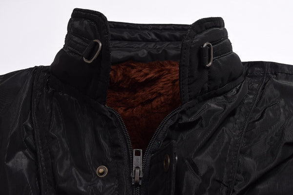 "Men's Exclusive "" D&G"" Water Proof Full Fur Jacket-Black-FJ05"