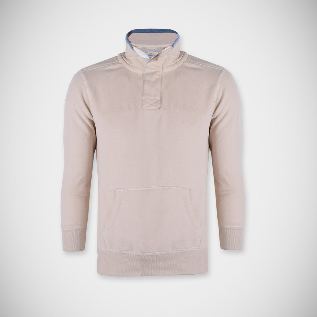 "Men's ""B&C"" Fashion Mock Neck-Cream Color-M0755"