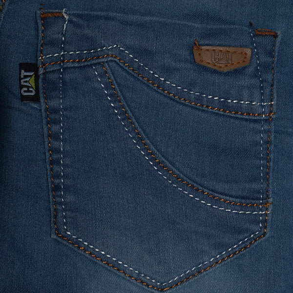 "Kid's ""CAT"" Stylish Strech Denim Sky Faded- KD06"