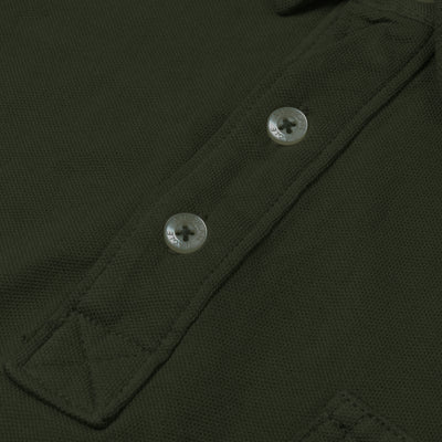 American Eagle Pocket Style Polo Shirt For Men-Olive Green-NA10782