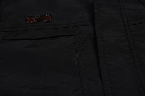 "Men's Exclusive "" Top Fashion "" Water Proof Leather Jacket-Black-FJ07"