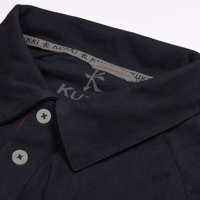 KUKRI Stylish Polo Shirt For Men-Black & Red-BE2700