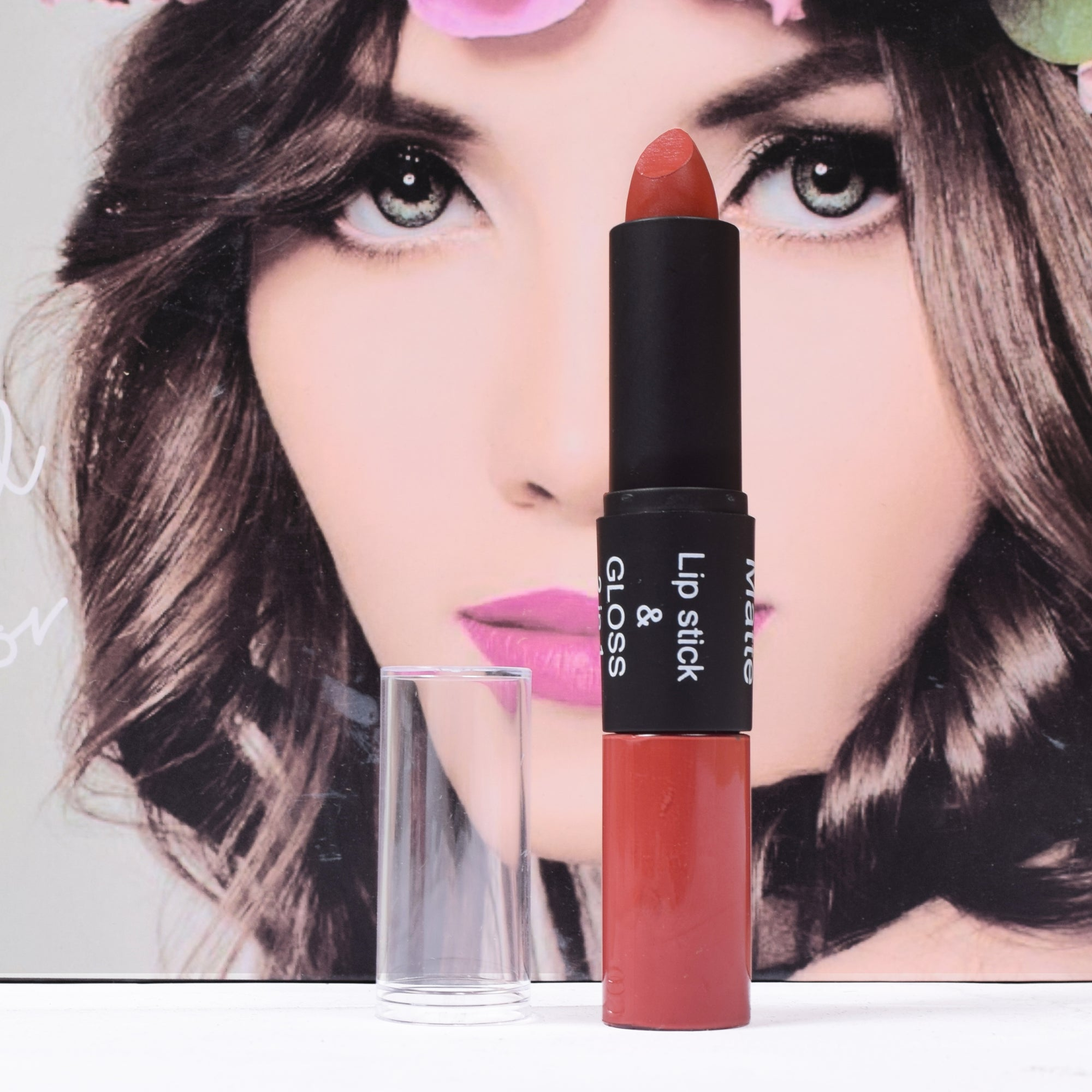 2 In 1 Matte Lipstick & Lip Gloss-NA1352