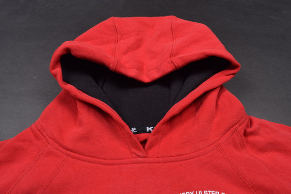 "Mens Cut Label ""Kukri Sports"" Pullover Hoodie Fleece-Red-CLH05"