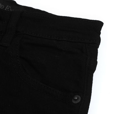 brandsego - Vintage Express Power Stretch Biker Denim For Kids-(S1)-Black-NA9668