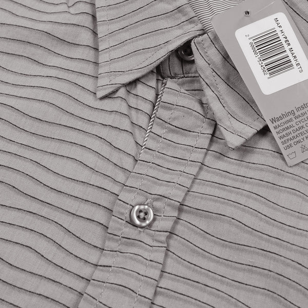 Eyedeology Casual Shirt For Men-Zig Zag Lined Chek-Light Gray-ECS02