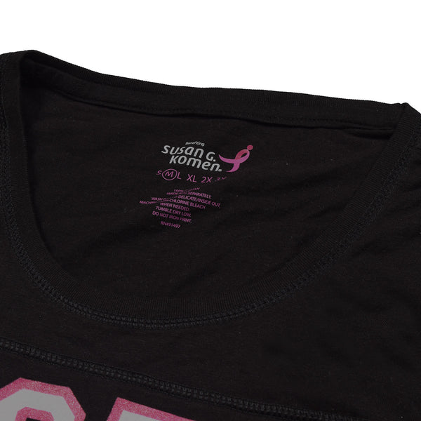Susan G. Komen Ladies Blouse Stylish Full Sleeve Crew Neck-Black-BE864