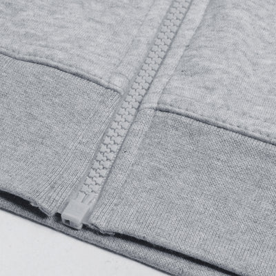 NK Slim Fit Zipper Fleece Track Suit For Men-Grey Melange-NA10124