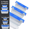 Pack Of 3 Plastic Food Container-NA6556