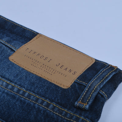 brandsego - Tiffosi Slim Fit Non Stretch  Grinded Denim For Men-(S21-38)-Blue Faded-NA9406