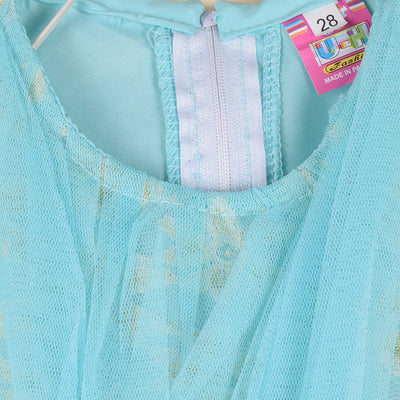 Net & Cotton Stylish Frock For Kids-NA576