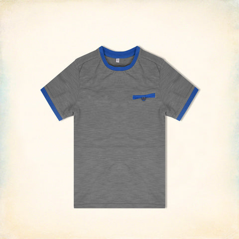 Next Half Sleeve T Shirt For Kid Cut Label -Gray-BE2184