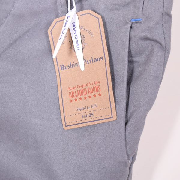 Men's BUSHIRT PATLOON Slim Fit COTTON Grey Denim