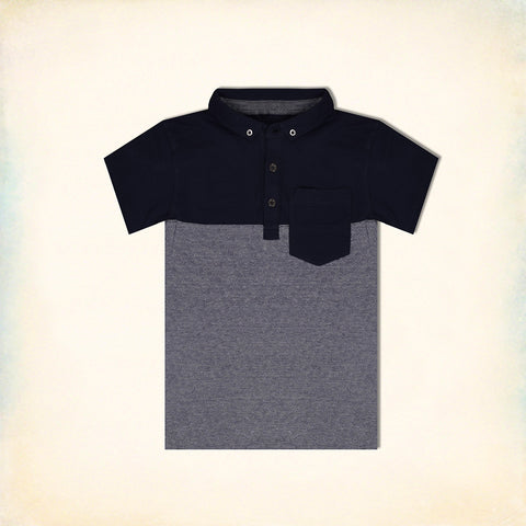 B Quality Next Polo Shirt For Kid Cut Label-Dark Navy & Panel-BE2187