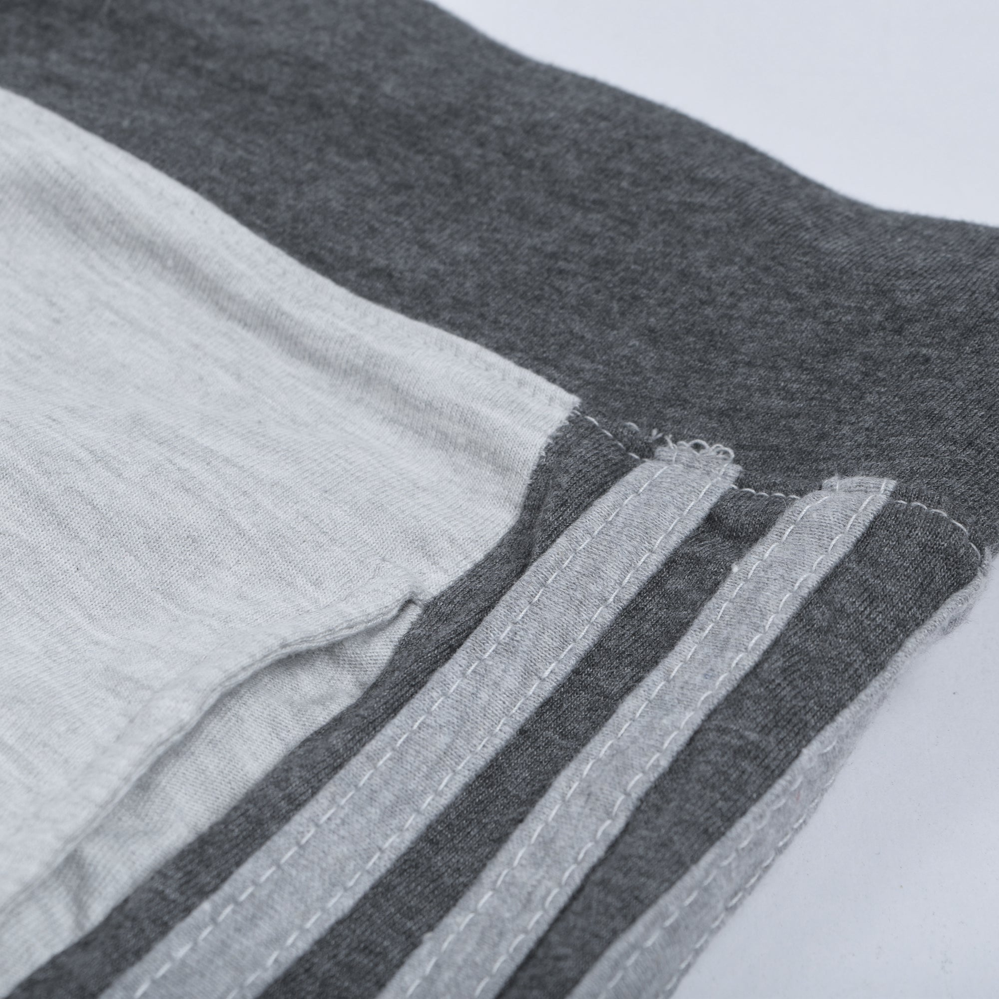 2b5de8689 Adidas Single Jersey Regular Fit Trouser For Men-Light Grey With Charcoal  Stripes-NA8793