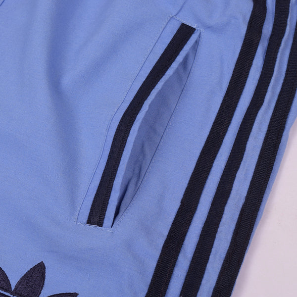 Adidas Cotton Trouser For Men-Dark Blue With Black Stripes-BE2342