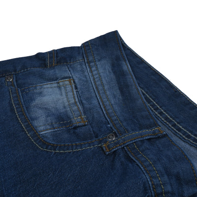 brandsego - Nancy &Denim Nancy Relaxed Cropped Slim Fit Non Stretch Denim For Men-(S48)-Navy Faded & Grinded-NA9373