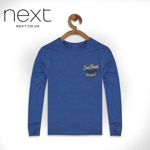 Next Terry Fleece Crew Neck Sweat Shirt For Boys-Light Blue-NA685