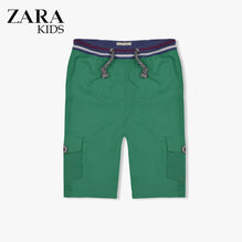 Zara Boys Cargo Short for Kids -Green-ZKCS44