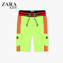 Zara Boys Cargo Short for Kids -Parrot With Red Stripes-ZKCS21
