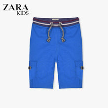 Zara Boys Cargo Short for Kids -Blue-ZKCS43