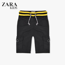 Zara Boys Cargo Short for Kids -Rosy Black-ZKCS25