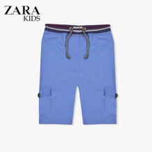 Zara Boys Cargo Short for Kids -Blue-ZKCS41