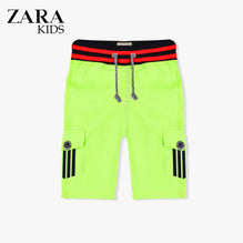 Zara Boys Cargo Short for Kids -Parrot With Dark Navy Stripes-ZKCS22