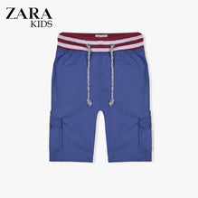Zara Boys Cargo Short for Kids -Dark Blue-ZKCS32