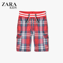 Zara Boys Check Cargo Short for Kids -Pink- ZKCS14