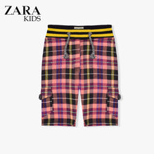 Zara Boys Cargo Check Short for Kids -Pink-ZKCS38