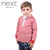 Next Single Jersey Henley Hoodie For Kids-Red & White Stripes-NA468