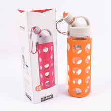 Glass Water Bottle-Orange-WB01