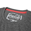 Coca Cola Crew Neck Tee Shirt For Men-Charcoal Melange-SP1862